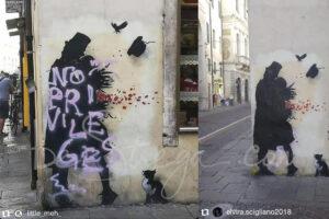 Il murale di Kennyrandom ripulito per amore